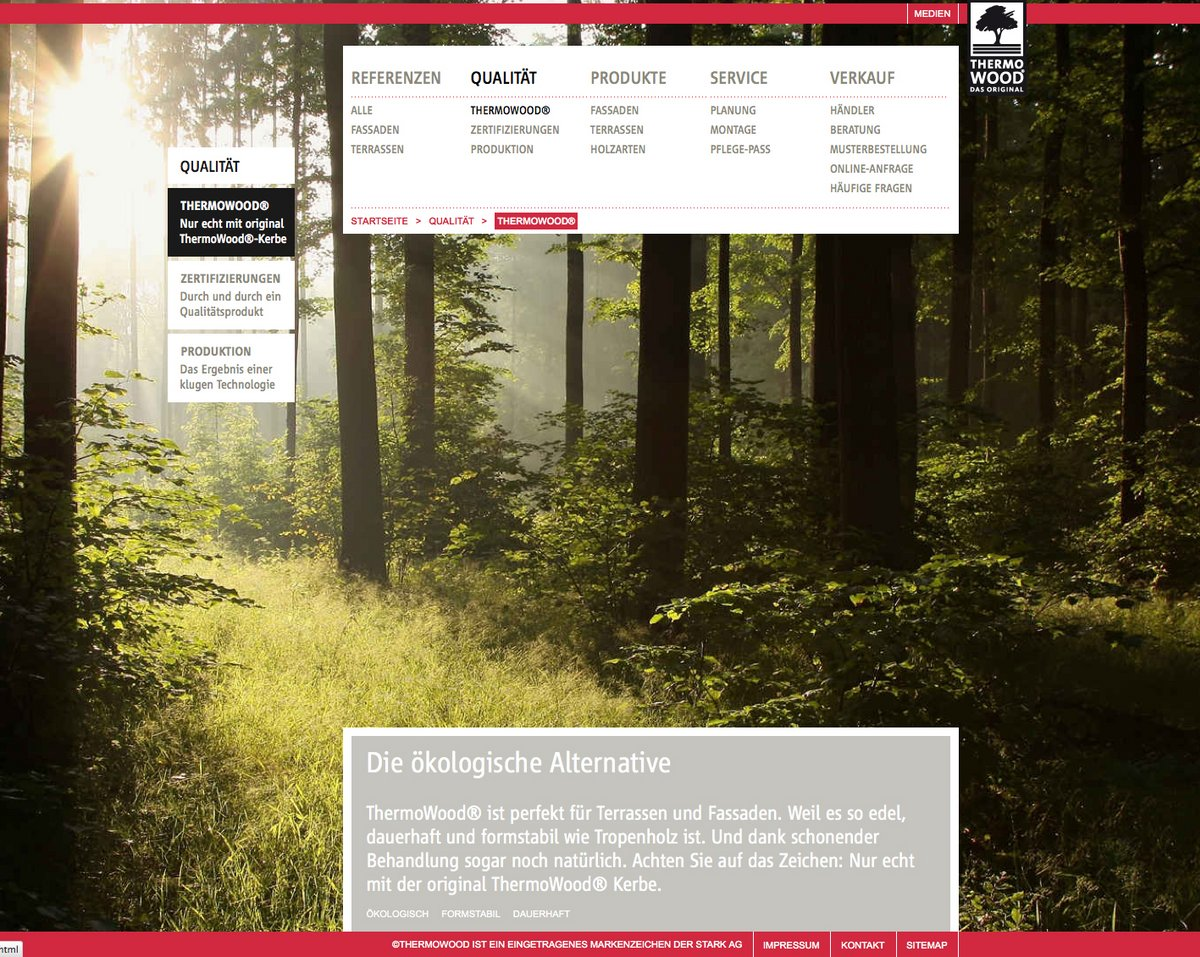 Neue ThermoWood®-Homepage